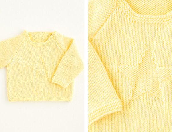 Adorable Star Sweater [FREE Knitting Pattern]   learnknittingonline.com
