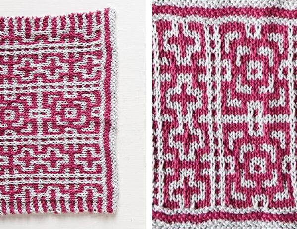 Artsy Byzantine Knit Dishcloth [FREE Knitting Pattern]   learnknittingonline.com