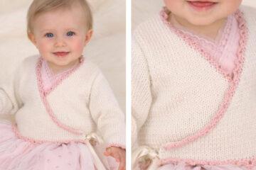 Ballerina Knit Baby Wrap [FREE Knitting Pattern]   learnknittingonline.com