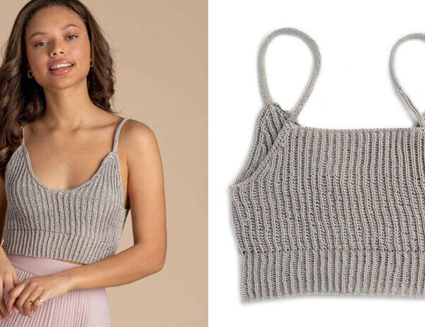 Bellwoods Knit Bralette [FREE Knitting Pattern]   learnknittingonline.com