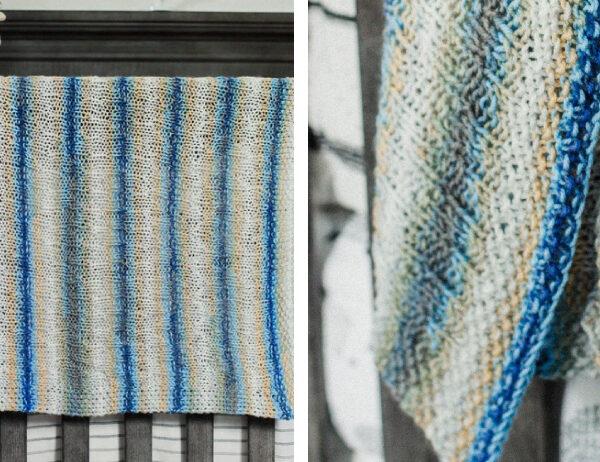 Cool Bentley Knit Blanket [FREE Knitting Pattern]   learnknittingonline.com