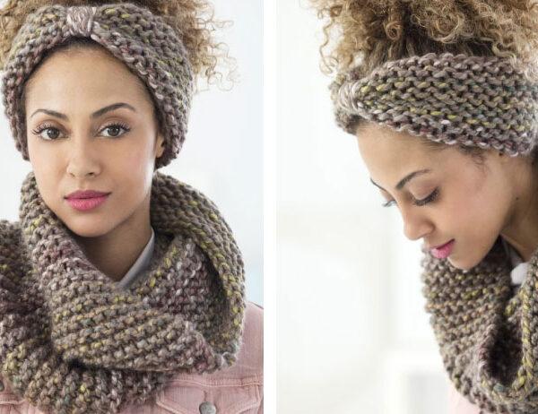 Boro Park Cowl and Headband [FREE Knitting Pattern]   learnknittingonline.com