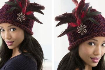 Brunch At Antoines Knit Hat [FREE Knitting Pattern] | learnknittingonline.com
