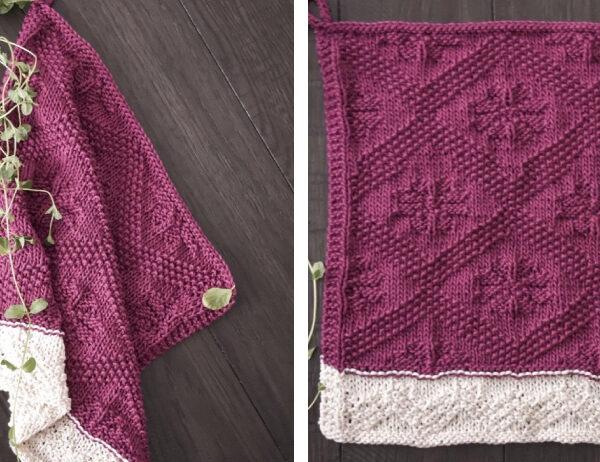 Catalina Knitted Dishtowel [FREE Knitting Pattern]   learnknittingonline.com