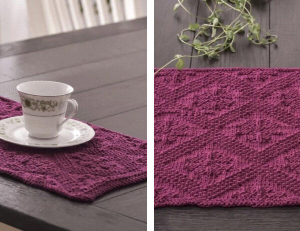 Catalina Knit Placemat [FREE Knitting Pattern]   learnknittingonline.com