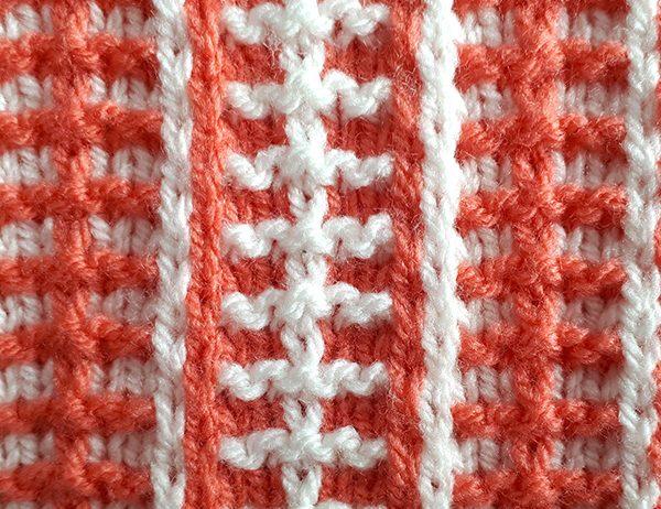 Cross-Color Stripe Mosaic Pattern [FREE Knitted Stitch Pattern] | learnknittingonline.com
