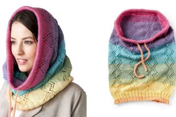Crossed Lace Knit Snood [FREE Knitting Pattern] | learnknittingonline.com