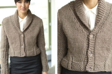 Stitch Detail Knit Jacket [FREE Knitting Pattern] | learnknittingonline.com