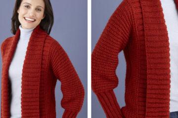 Drapey Knitted Cardigan [FREE Knitting Pattern]   learnknittingonline.com