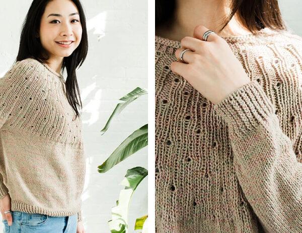 Dryades Knit Sweater [FREE Knitting Pattern]   learnknittingonline.com