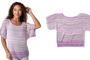 Easy Breezy Knitted Top [FREE Knitting Pattern] | learnknittingonline.com