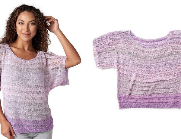 Easy Breezy Knitted Top [FREE Knitting Pattern]   learnknittingonline.com