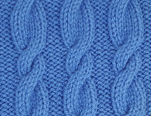 Eccentric Cable Stitch Pattern [FREE Knitted Stitch Pattern] | learnknittingonline.com