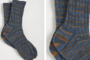 Father's Day Socks [FREE Knitting Pattern] | learnknittingonline.com