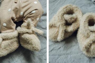 Felix Knit Baby Slippers [FREE Knitting Pattern] | learnknittingonline.com
