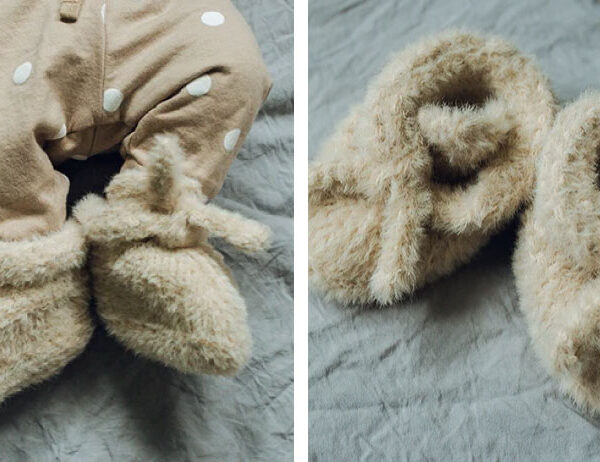 Felix Knit Baby Slippers [FREE Knitting Pattern]   learnknittingonline.com