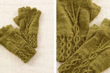 Fingerless Knit Cabled Gloves [FREE Knitting Pattern] | learnknittingonline.com