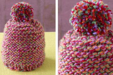 Fireworks Knit Baby Hat [FREE Knitting Pattern] | learnknittingonline.com