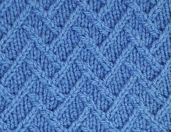 Fractured Lattice Stitch Pattern [FREE Knitted Stitch Pattern] | learnknittingonline.com