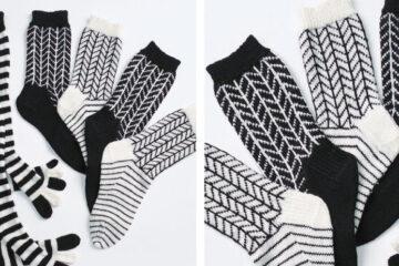 Graphic Chevrons Knit Socks [FREE Knitting Pattern] | learnknittingonline.com