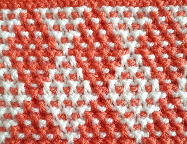 Harlequin Mosaic Pattern [FREE Knitted Stitch Pattern] | learnknittingonline.com