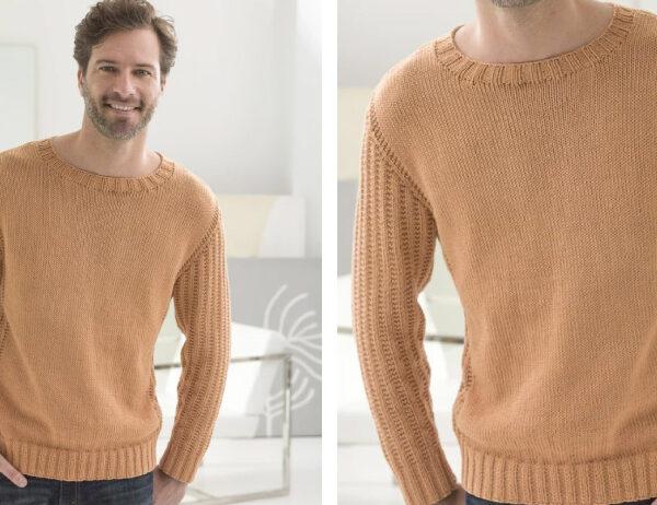 Harvard Square Knit Pullover [FREE Knitting Pattern]   learnknittingonline.com