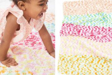 Knit Cuddly Soft Afghan [FREE Knitting Pattern] | learnknittingonline.com