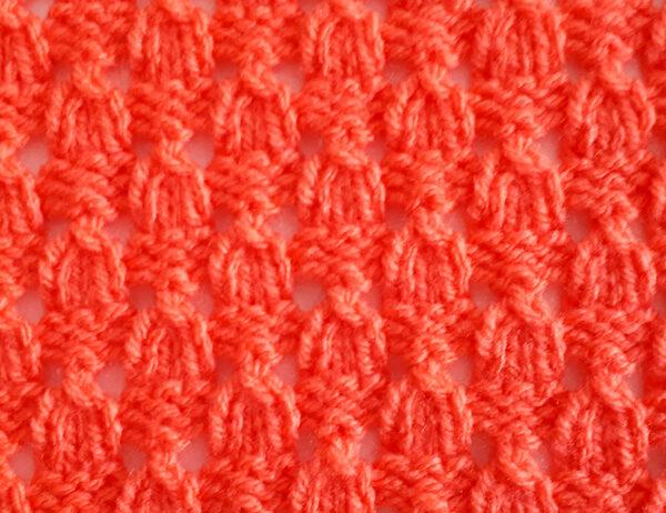 Dewdrop Stitch Pattern | learnknittingonline.com