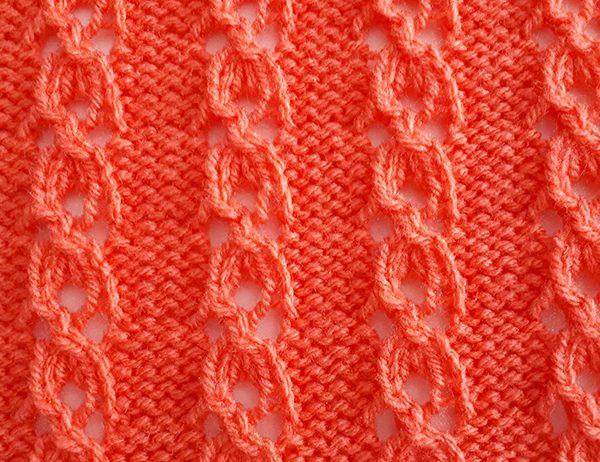 Cloverleaf Eyelet Cable Pattern | learnknittingonline.com