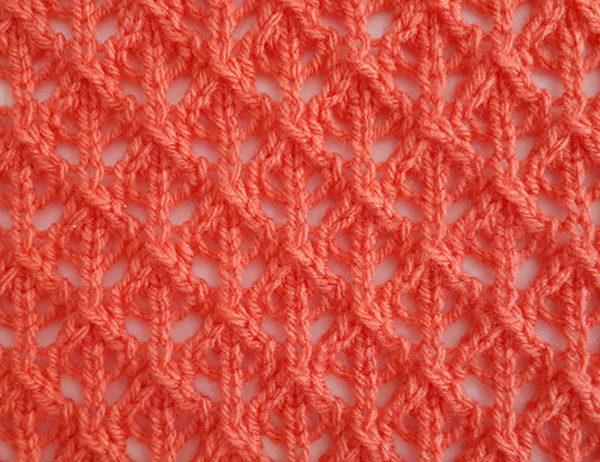 English Mesh Lace Pattern | learnknittingonline.com