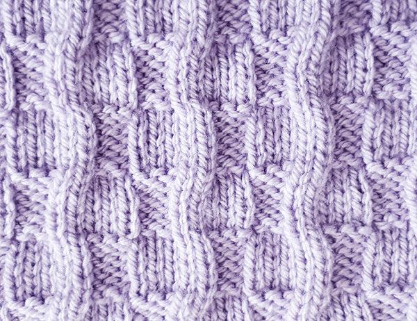Broken Block Stitch Pattern | learnknittingonline.com