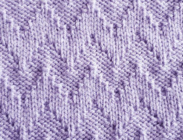 Chevron Stitch Pattern | learnknittingonline.com