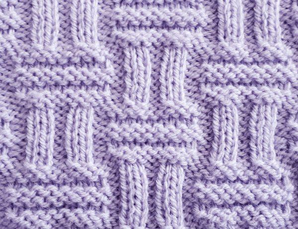 Double Basketweave Stitch Pattern | learnknittingonline.com