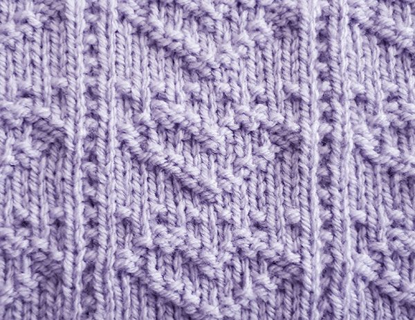 Heart Squares Stitch Pattern | learnknittingonline.com