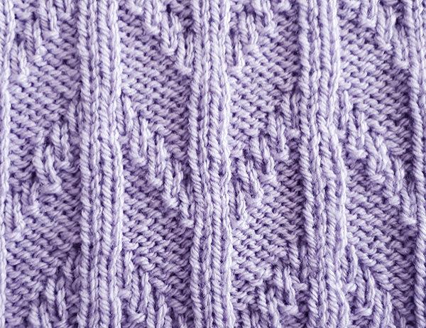 Rib and Chevron Pattern [FREE Knitting Stitch Pattern] | learnknittingonline.com