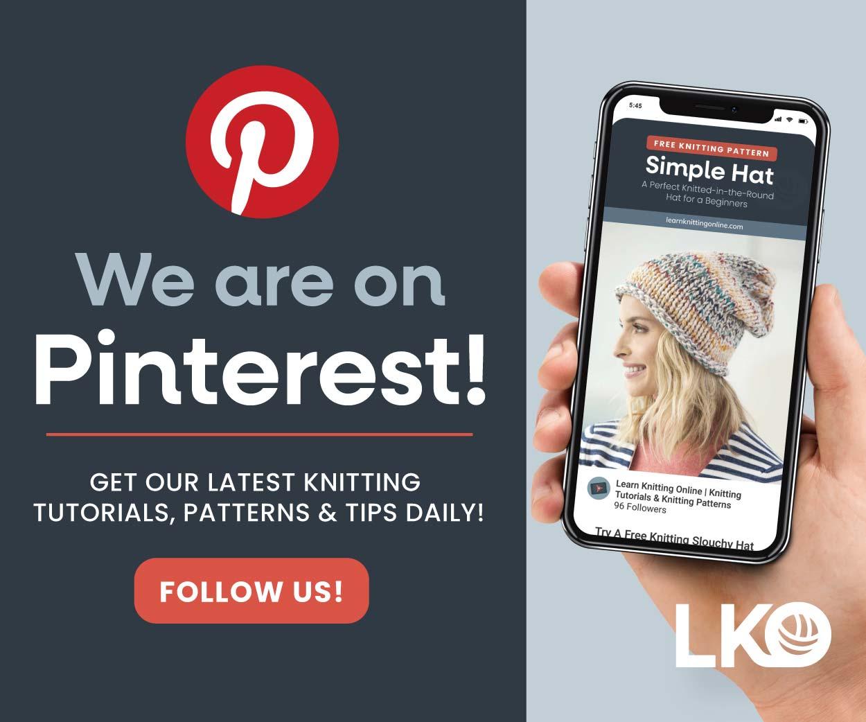 Find Us on Pinterest | Learn Knitting Online