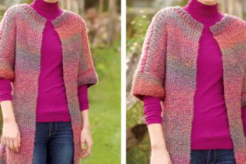 Long and Lean Knit Jacket [FREE Knitting Pattern] | learnknittingonline.com