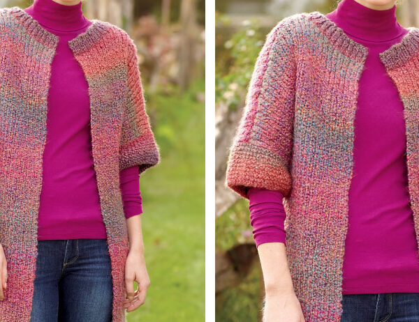 Long and Lean Knit Jacket [FREE Knitting Pattern]   learnknittingonline.com
