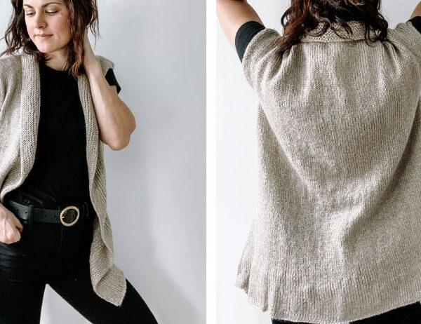 McInness Knitted Cardigan [FREE Knitting Pattern]   learnknittingonline.com