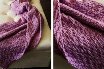 Incredible Milo Knit Blanket [FREE Knitting Pattern] | learnknittingonline.com