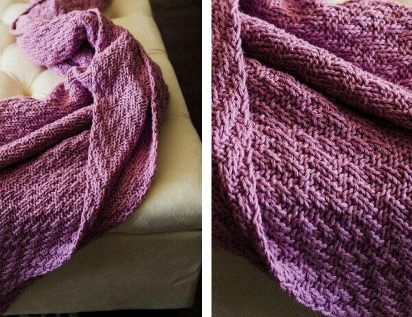 Incredible Milo Knit Blanket [FREE Knitting Pattern]   learnknittingonline.com