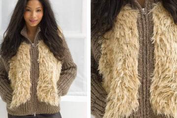 Modern Varsity Knit Jacket [FREE Knitting Pattern] | learnknittingonline.com