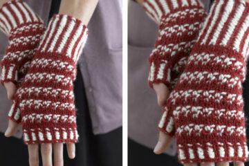 Norwegian Woolly Knit Wristers [FREE Knitting Pattern] | learnknittingonline.com