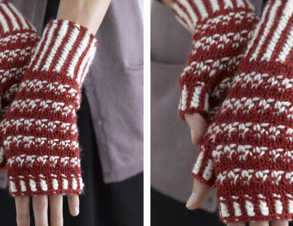 Norwegian Woolly Knit Wristers [FREE Knitting Pattern]   learnknittingonline.com