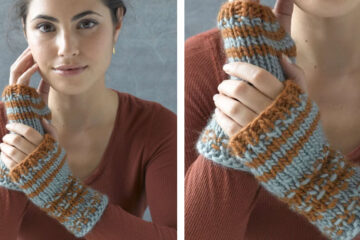 O'Meara's Cozy Knit Mitts [FREE Knitting Pattern]   learnknittingonline.com