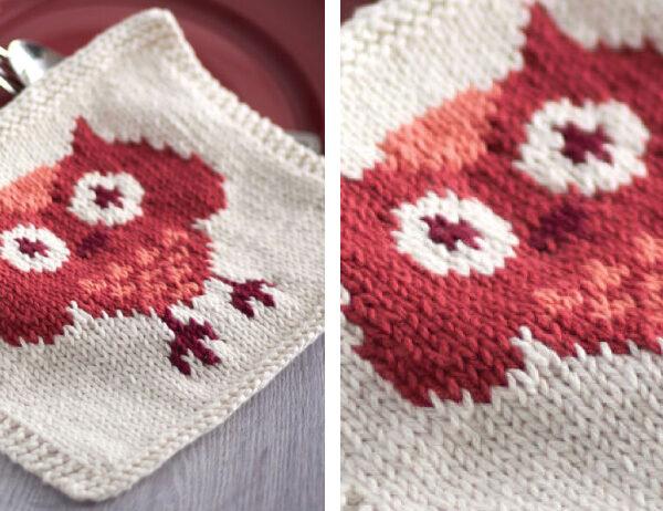 Knit Owl Dishcloth [FREE Knitting Pattern]   learnknittingonline.com