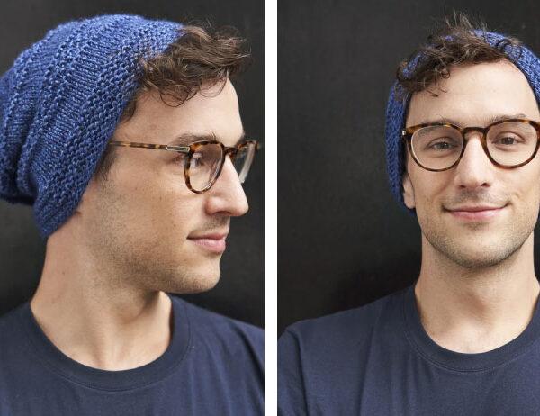 Ridged Slouch Knit Hat [FREE Knitting Pattern]   learnknittingonline.com