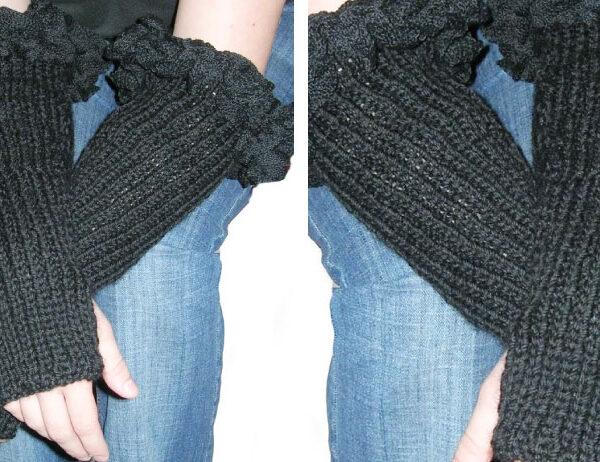 Ruffled Knit Wristlets [FREE Knitting Pattern]   learnknittingonline.com