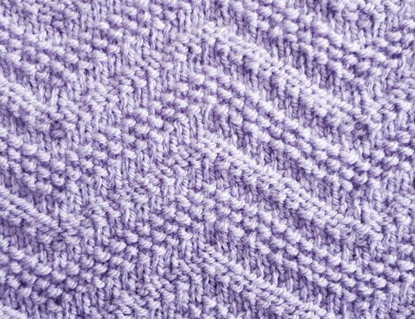 Seed Stitch Chevron Pattern | learnknittingonline.com