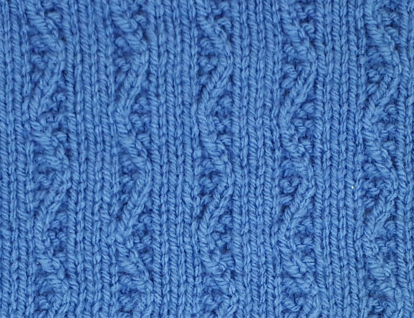 Single Aran Rib Pattern [FREE Knitted Stitch Pattern]   learnknittingonline.com